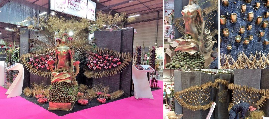 Création florale dans l'espace tendance du salon végétal